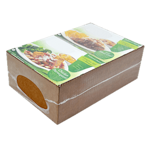 the economical Jacketpack packaging with a cardboard belt and shrink film